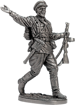 Sergeant of infantry of the Red Army. 1941-43, USSR; 54 mm