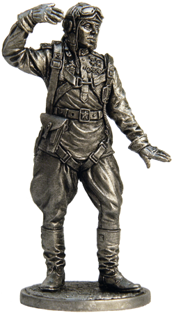 Soviet pilot in a summer uniforms, 1943-45; 54 mm