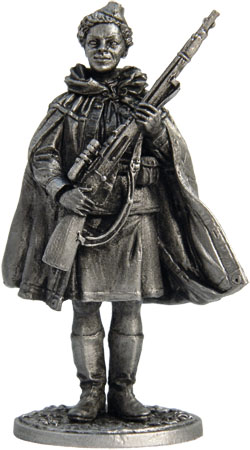 Woman - sniper. USSR, 1941-43; 54 mm