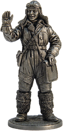 Pilot-navigator in a winter uniform, 1941-45. USSR; 54 mm