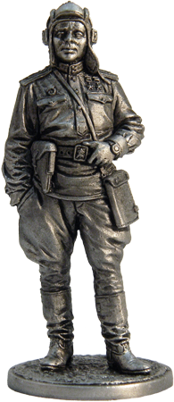 Guards officer-tankman, 1943-45. USSR; 54 mm