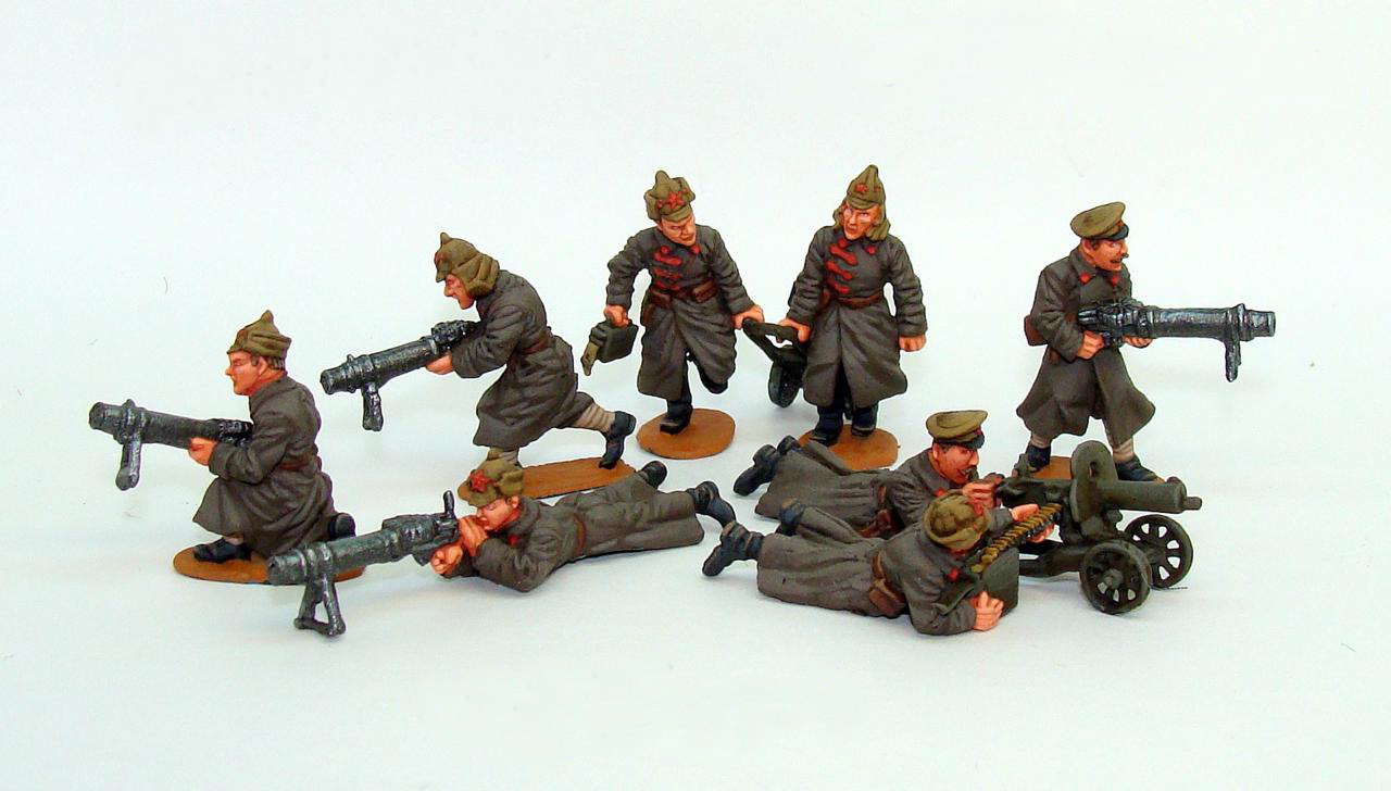 Machine gunners of the Red Army; 1920-21; 28 mm