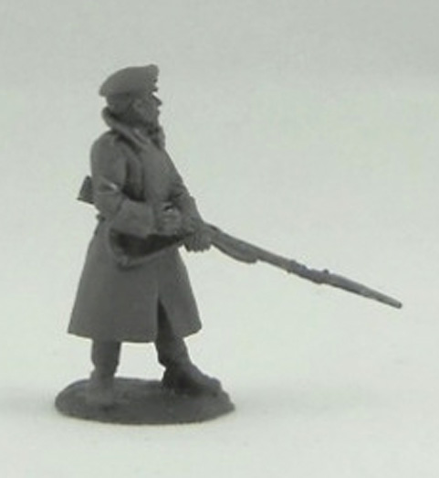 Soldier in a greatcoat; 28 mm