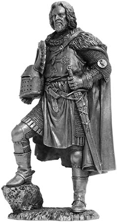 Teutonic knight, the 14th century; 75 mm