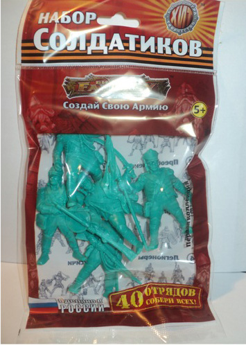Grenadiers Napoleonic Wars. Toy Soldiers Fantasy, 5 figures; 1/32 (54 мм)