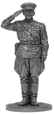 Guard captain of the Red Army. USSR, 1943-45; 54 mm