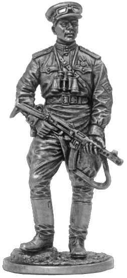 Red Army anti-tank artillery officer. USSR, 1943-45; 54 mm