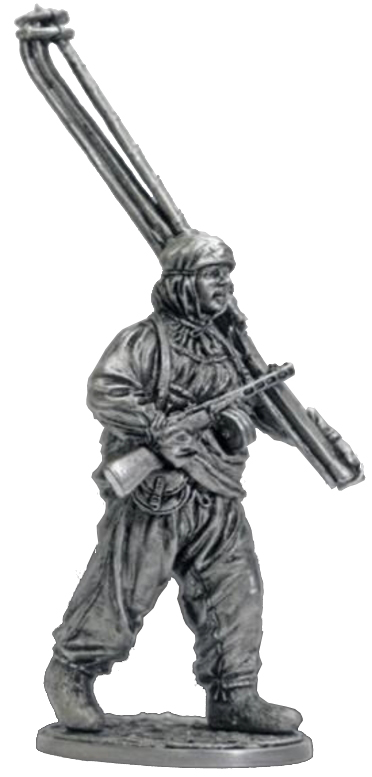 The machine gunner of the ski battalions of the Red Army. USSR, 1941-44; 54 mm