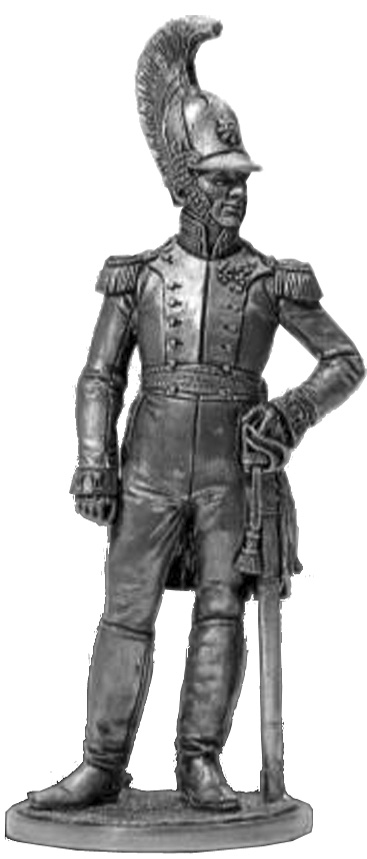 Colonel of the Life Guards Dragoon Regiment. Russia, 1810-15; 54 mm