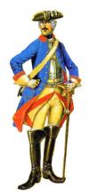 Private cuirassier regiment. Russia, 1732 - 42
