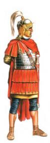 Roman cavalry officer, the end of II - III century; 54 mm