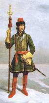 Officer Preobrazhensky regiment 1698-1702. Russia.