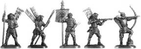 """Ashigaru"" set of five figures; 40 mm"