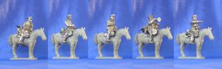 Polish cavalrymen �3 (command group); 28 mm