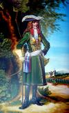 Staff officer of the Preobrazhensky Regiment, 1698-1700. Russia, 54 mm