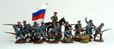 """Lieventsy""- Infantry division of the prince Lieven. Northwest army. White. Civil war in Russia 1917-1922; 28 mm"