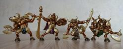 Minotaurs set plastic Toy Soldiers Fantasy, 5 figures; 1/32 (54 мм)