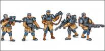 "Ruteniya guardsmen - a set from the series ""Bronepehota"" (~ 1/48)"