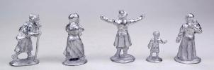 Russian peasants (№3) XIX - early XX centuries; 28 mm