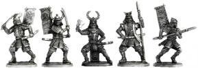 """Samurai"" set of five figures"