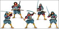 Samurai set plastic Toy Soldiers Fantasy, 5 figures; 1/32 (54 мм)