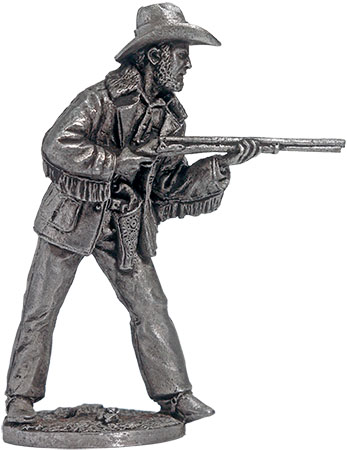 Cowboy with double-barrel gun; 54 mm